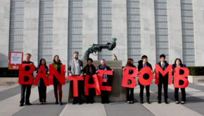 Ban the bomb campaign picture_PAX Sign_March 2017