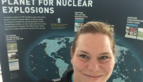 Susi at the CTBTO exhibition