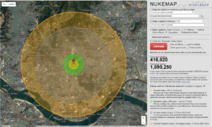 Map created by NUKEMAP by Alex Wellerstein. http://bit.ly/seoul_nukemap