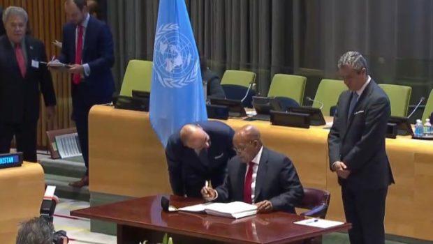 Signature Ban Treaty_South Afria