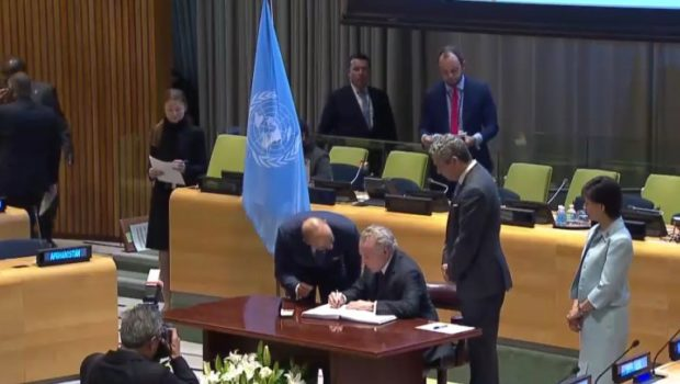 Brazil makes history and is the first to sign the treaty